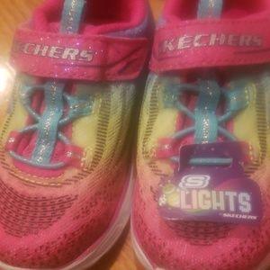 New Girls Skechers light beams